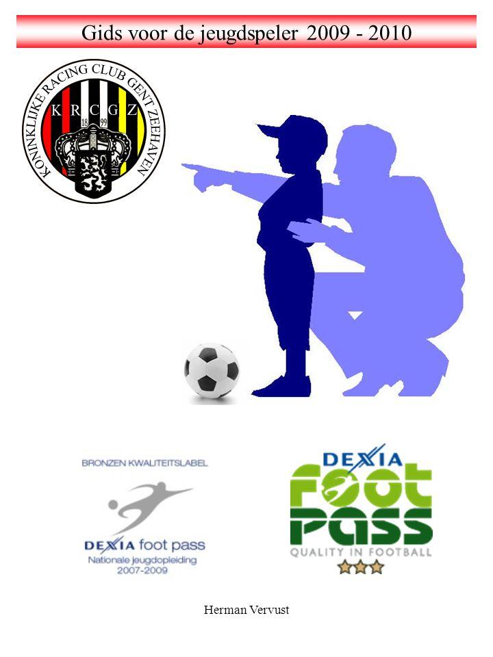 Herman Vervust Woord vooraf Wij willen bij het begin van het voetbalseizoen iedere jeugdspeler, en met name zeker de nieuwe spelers, van harte welkom heten bij KRCGZ.