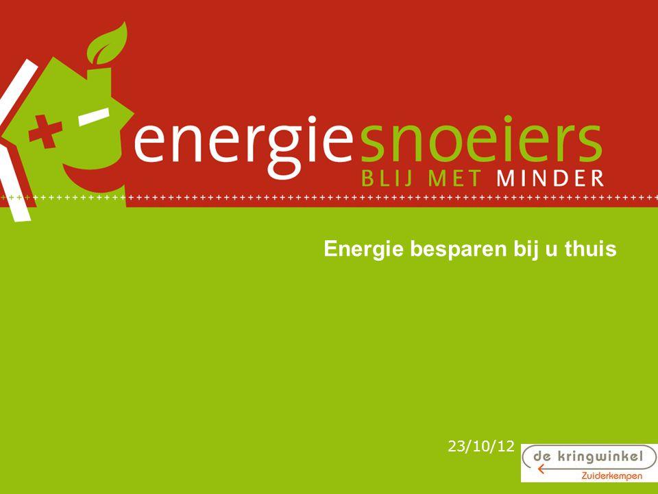 Energie besparen bij u thuis 23/10/12
