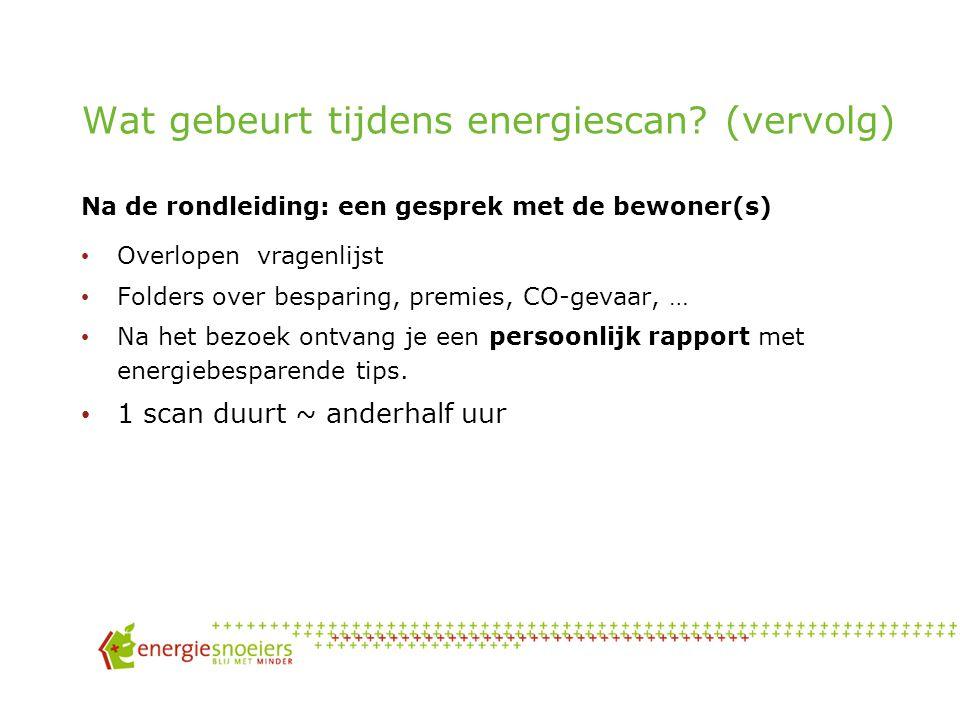 Wat gebeurt er tijdens een Energiescan? 6) Gebouwschil Warmteverliezen van de woning langs Dak Muren Glas Vloer deuren