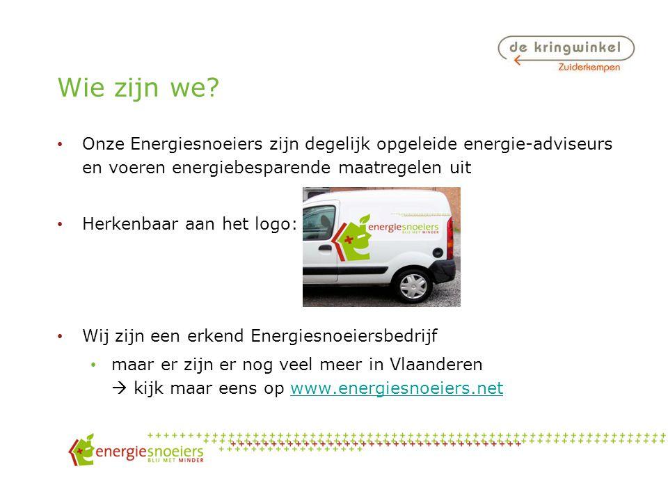 Programma Waarom energie besparen? De Energiesnoeiers Wie zijn we? Wat doen we? Tussendoor: tal van energietips!