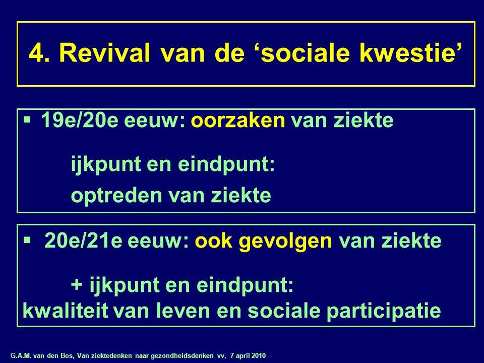 G.A.M. van den Bos, Van ziektedenken naar gezondheidsdenken vv, 7 april 2010 4. Revival van de 'sociale kwestie'  19e/20e eeuw: oorzaken van ziekte i