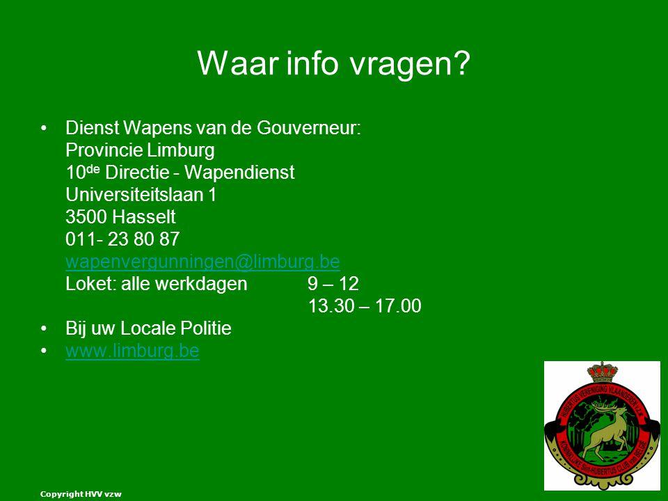 Copyright HVV vzw Waar info vragen.