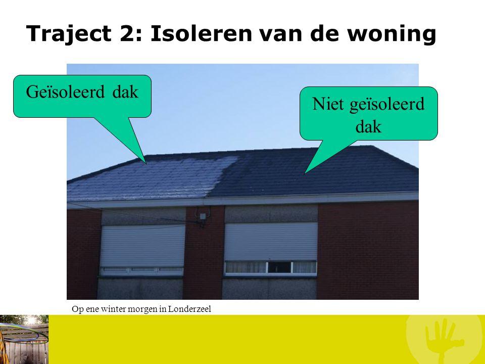Traject 2: Isoleren van de woning Geïsoleerd dak Niet geïsoleerd dak Op ene winter morgen in Londerzeel