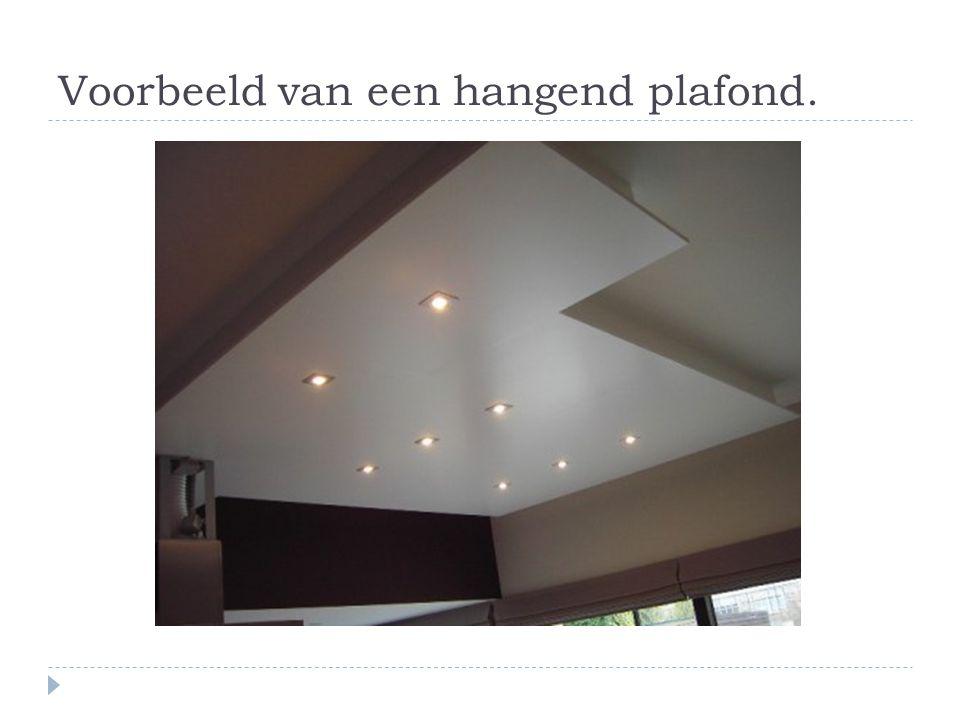 Voorbeeld van een hangend plafond.