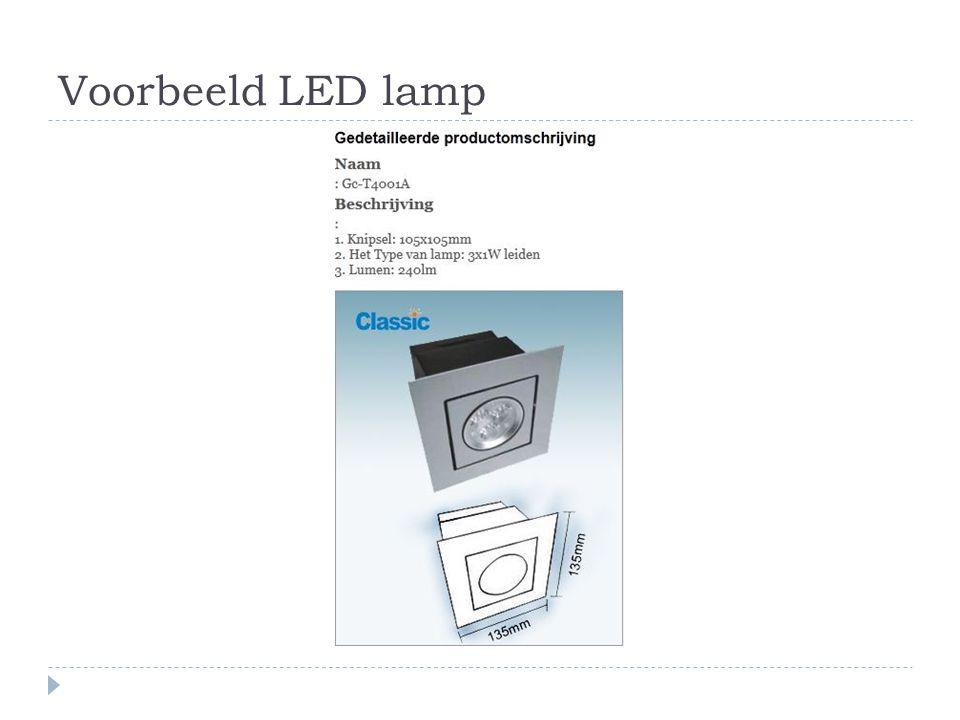 Voorbeeld LED lamp