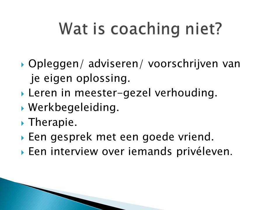 Een voorbeeld van hoe het vooral wel/niet moet. Bad coach vs Good coach