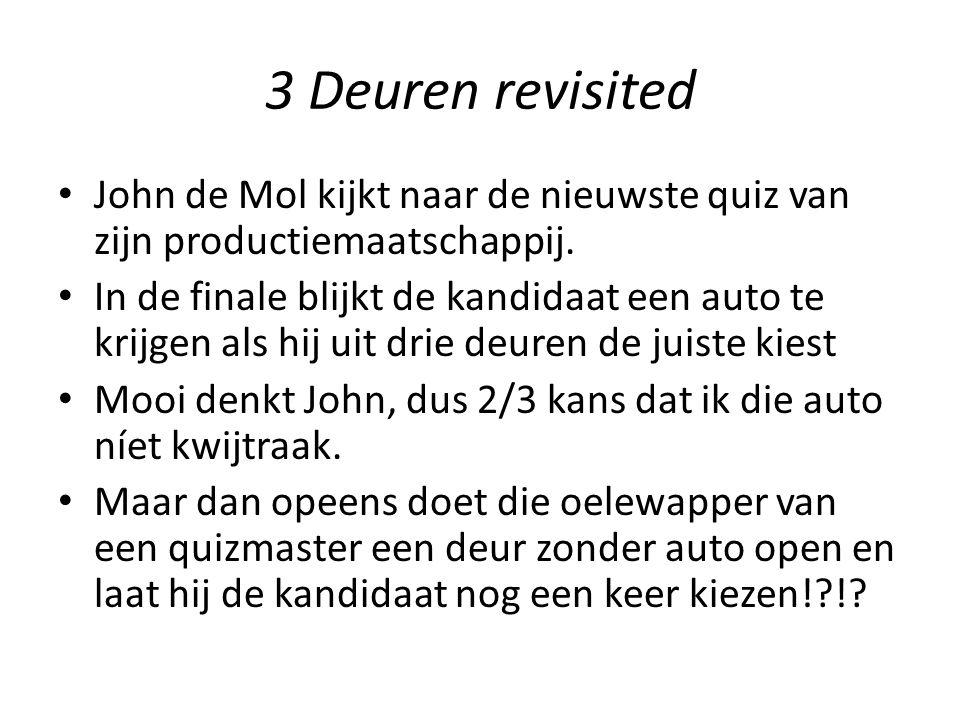 3 Deuren revisited John de Mol kijkt naar de nieuwste quiz van zijn productiemaatschappij.