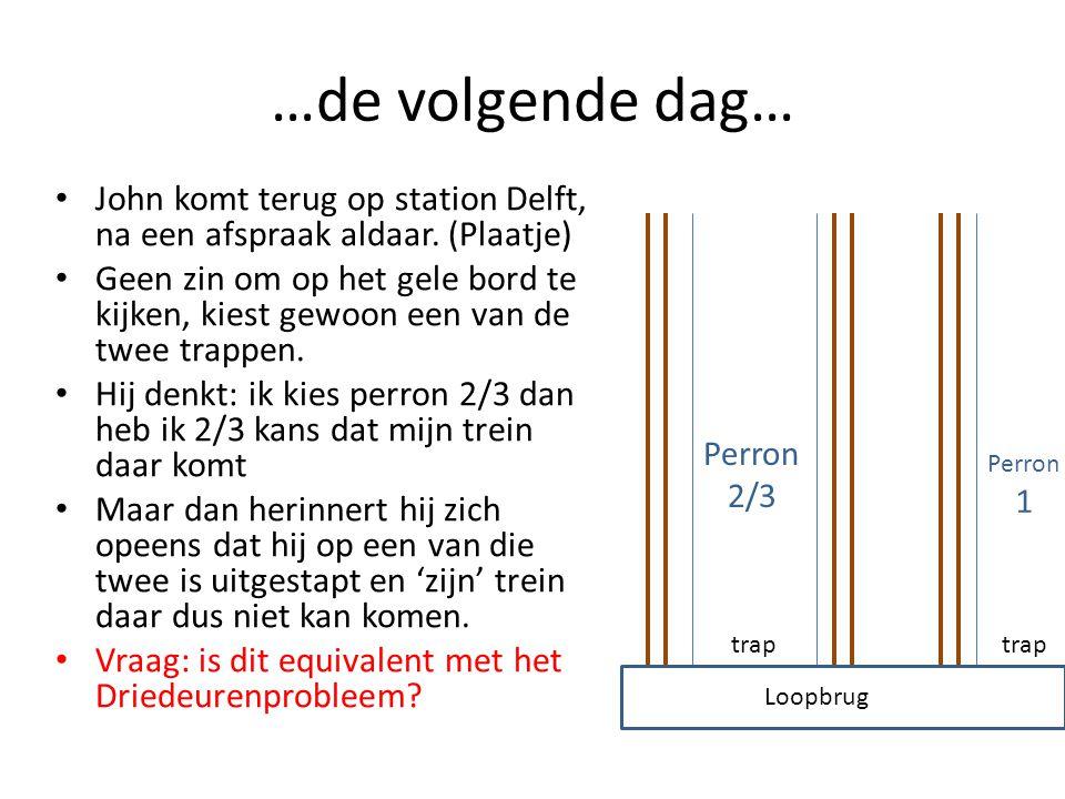 …de volgende dag… John komt terug op station Delft, na een afspraak aldaar.