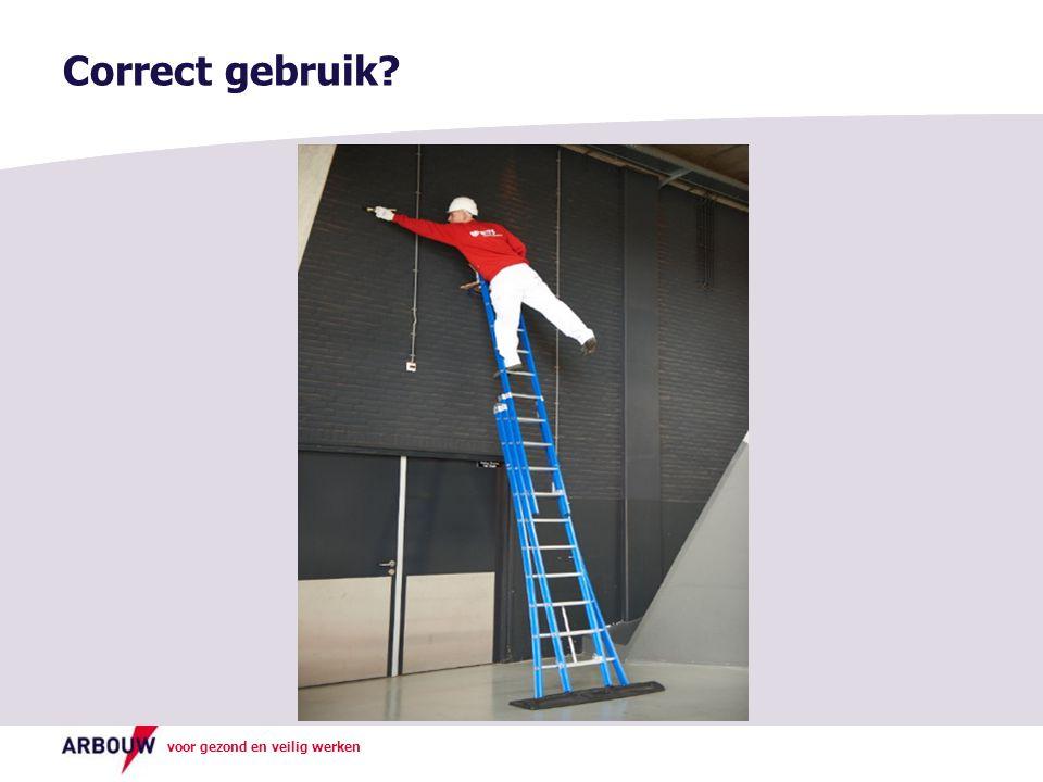 voor gezond en veilig werken Correct gebruik?