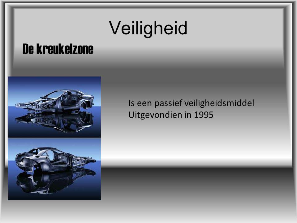 Veiligheid De airbag Is een passief veiligheidsmiddel Uitgevonden in 1940