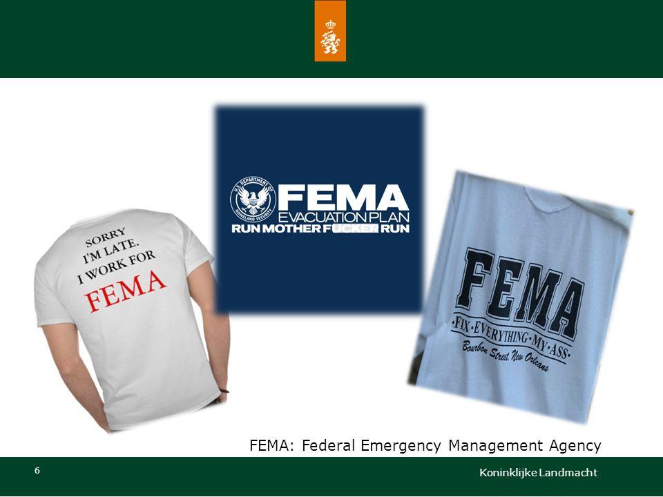 6 FEMA: Federal Emergency Management Agency