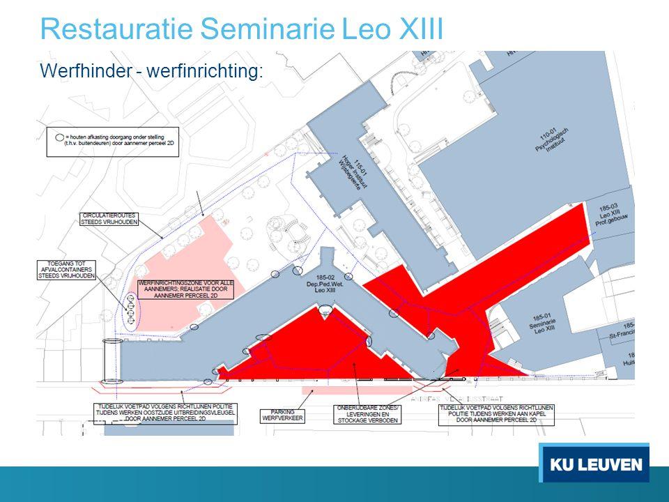 Restauratie Seminarie Leo XIII Werfhinder - werfinrichting: