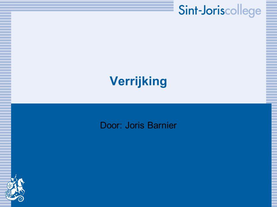 Verrijking Door: Joris Barnier