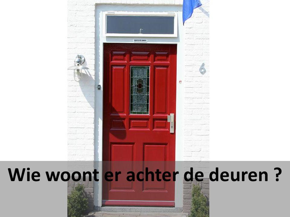 Wie woont er achter de deuren ?