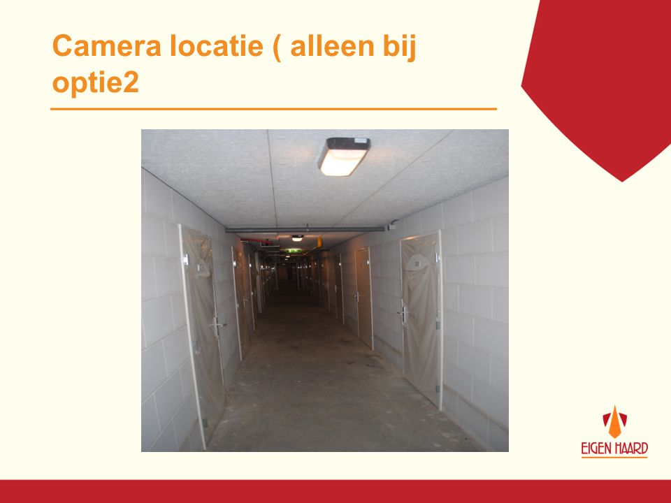 Prijzen scenario's Scenario 1: -Installatie 7 dome camera's Hoofdingangen € 6385,- -Eigen bijdrage € 110.09 Scenario 2: -Installatie 9 dome camera's € 7885,- -Eigen bijdrage € 135.95