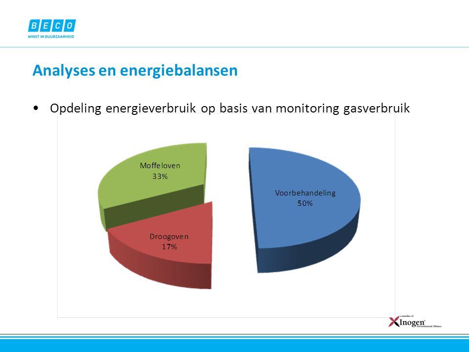 Analyses en energiebalansen Opdeling energieverbruik op basis van monitoring gasverbruik