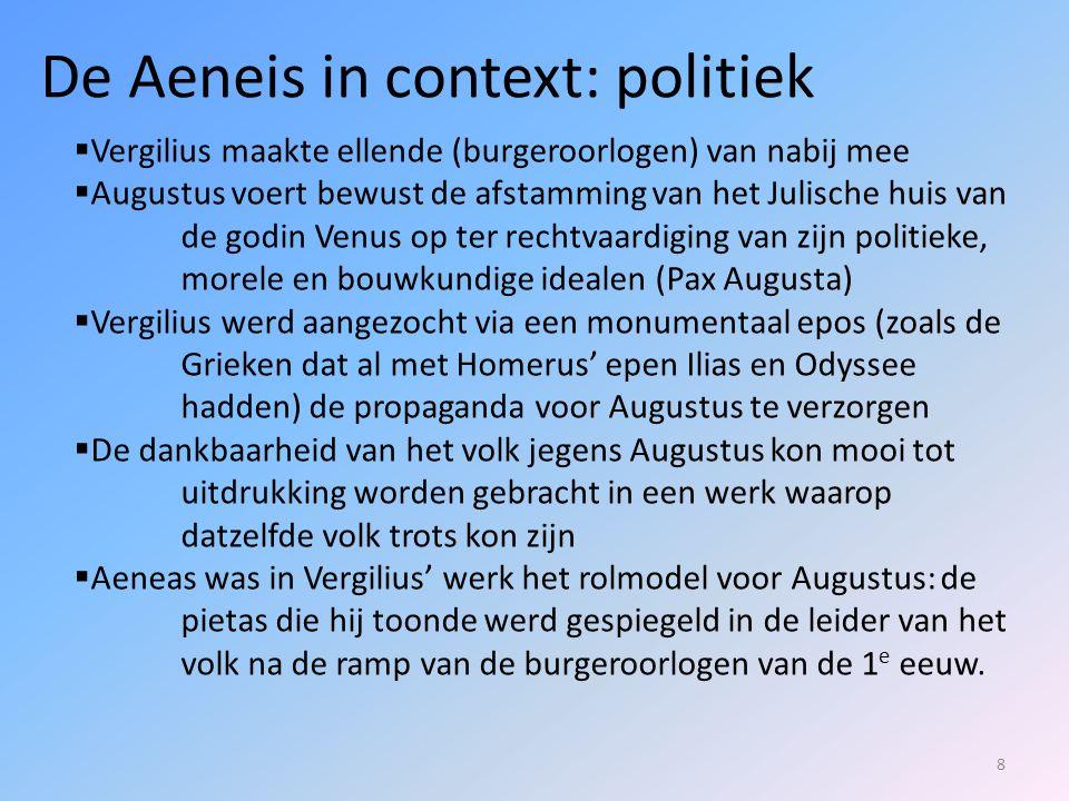 39  Aeneas gaat aan de slag.Eerst geeft hij Misenus (die was het immers) een begrafenis.