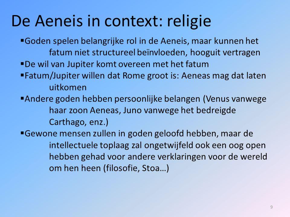 110  Anchises gaat, na zijn, vrij theoretische betoog, over tot waar men boek VI eigenlijk voor leest: de voorspelling van de toekomst van Aeneas en zijn nakomelingen.