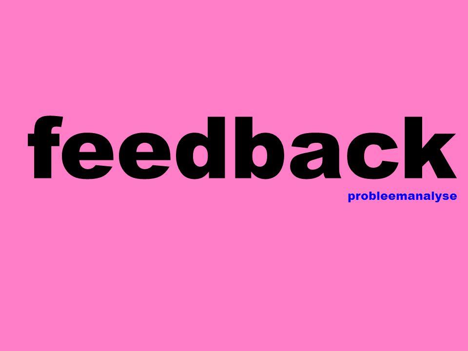 feedback probleemanalyse