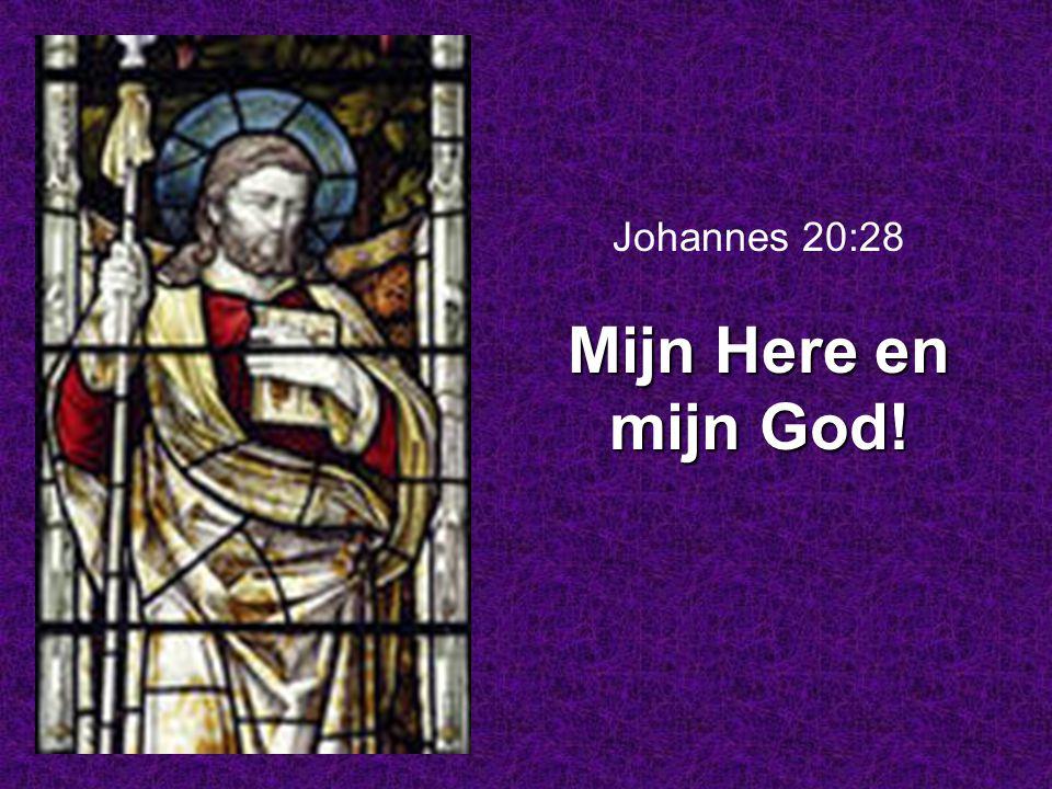 Mijn Here en mijn God! Johannes 20:28 Mijn Here en mijn God!