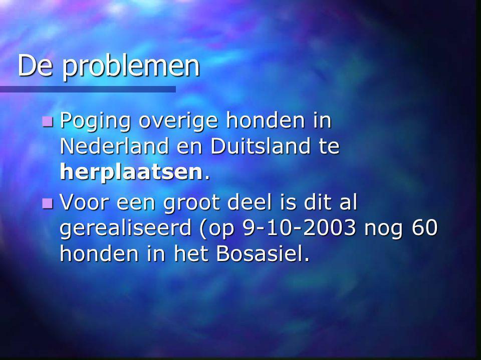 De problemen Poging overige honden in Nederland en Duitsland te herplaatsen.