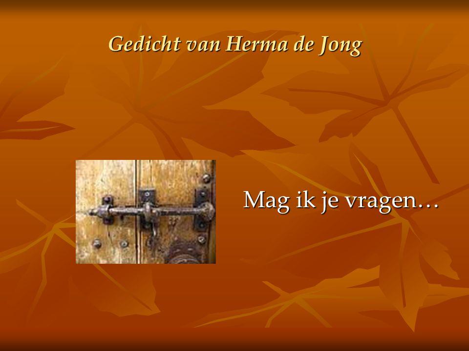 Gedicht van Herma de Jong Mag ik je vragen…