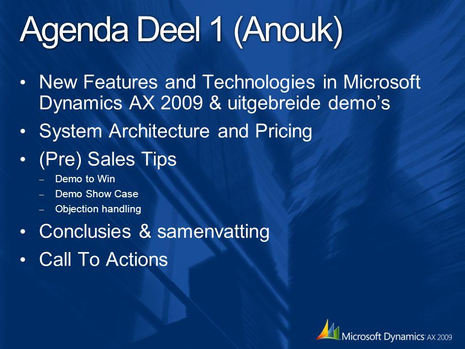 Seminar Agenda Deel 2 (Hubert) Dynamics AX 2009 – Branches Voor welke branches is Dyn AX 2009 geschikt.