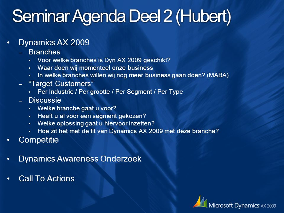 Selling Microsoft Dynamics AX 2009 What HASN'T Changed.