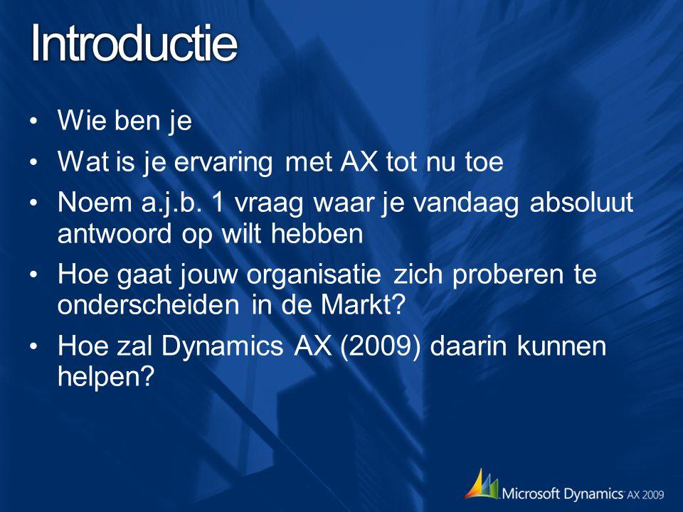 Deel 1: Dynamics AX 2009