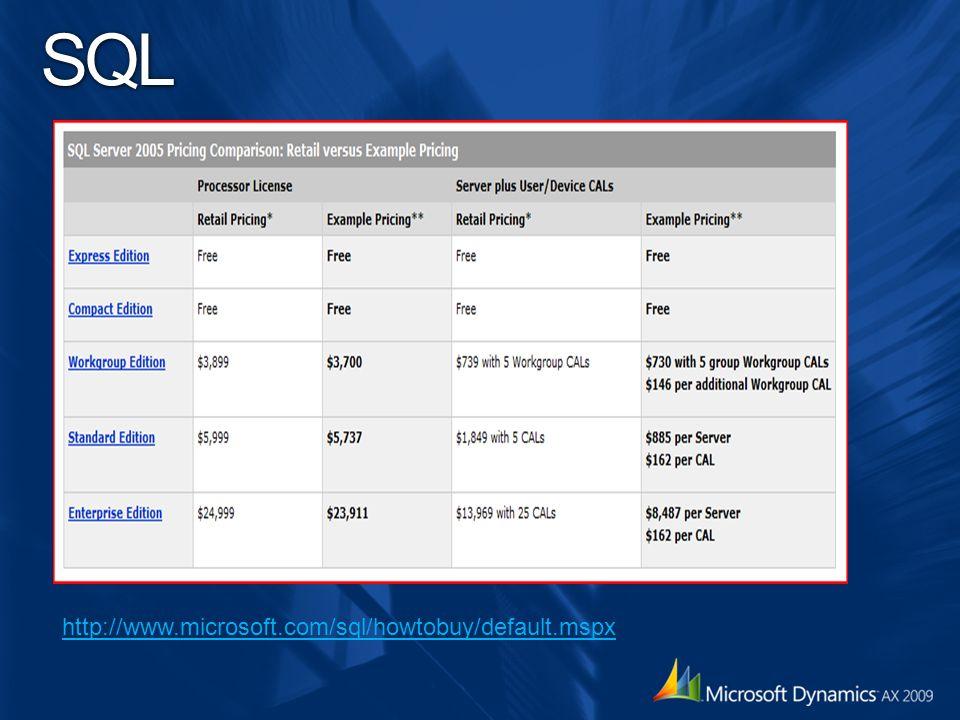 SQL http://www.microsoft.com/sql/howtobuy/default.mspx