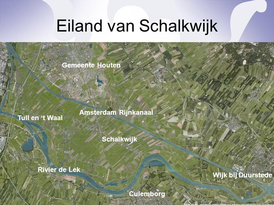 Eiland van Schalkwijk Amsterdam Rijnkanaal Rivier de Lek Gemeente Houten Schalkwijk Tull en 't Waal Wijk bij Duurstede Culemborg