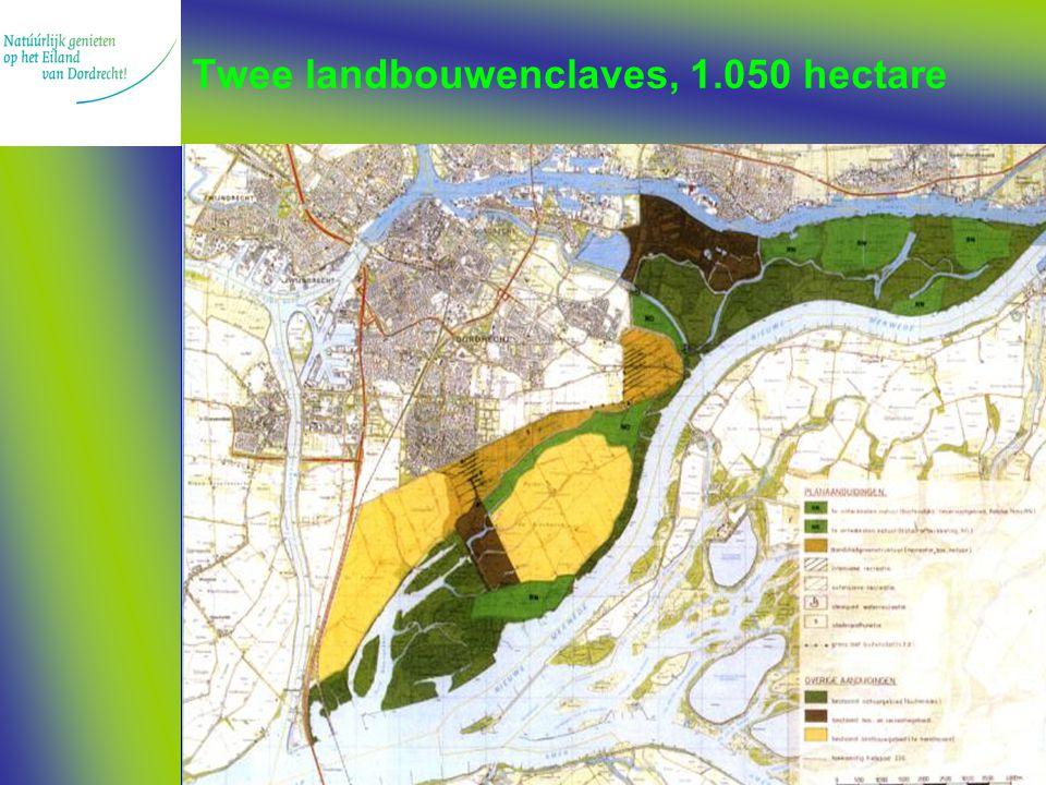 Twee landbouwenclaves, 1.050 hectare