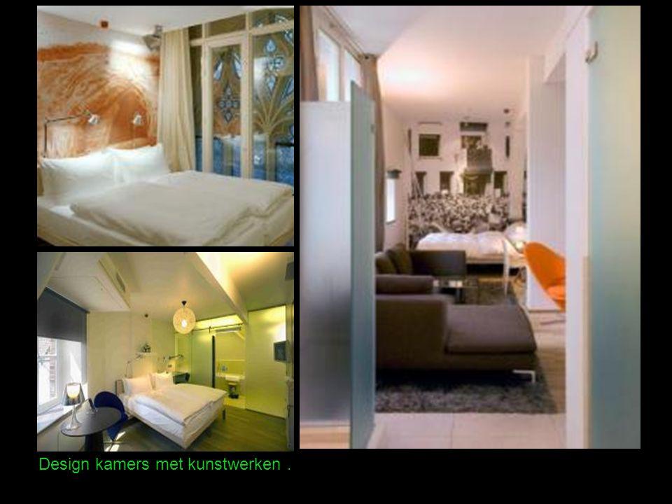 Design kamers met kunstwerken.