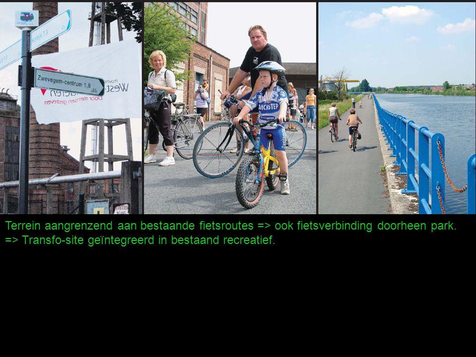 Terrein aangrenzend aan bestaande fietsroutes => ook fietsverbinding doorheen park.