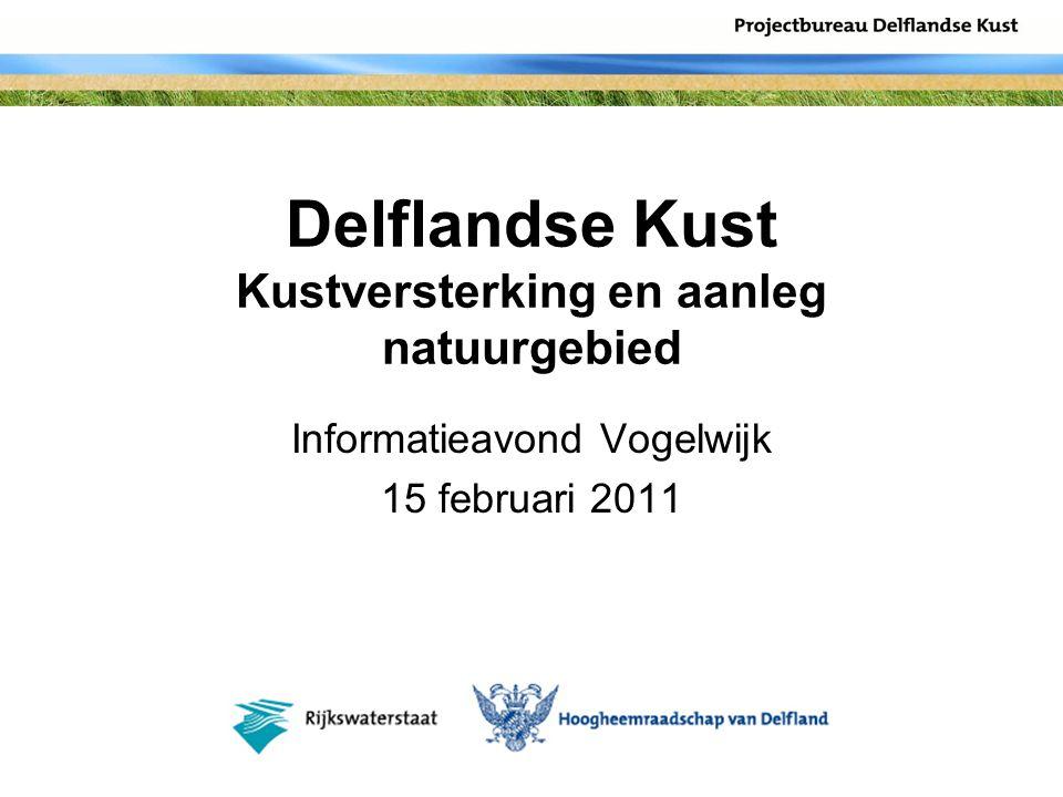 Delflandse Kust Kustversterking en aanleg natuurgebied Informatieavond Vogelwijk 15 februari 2011