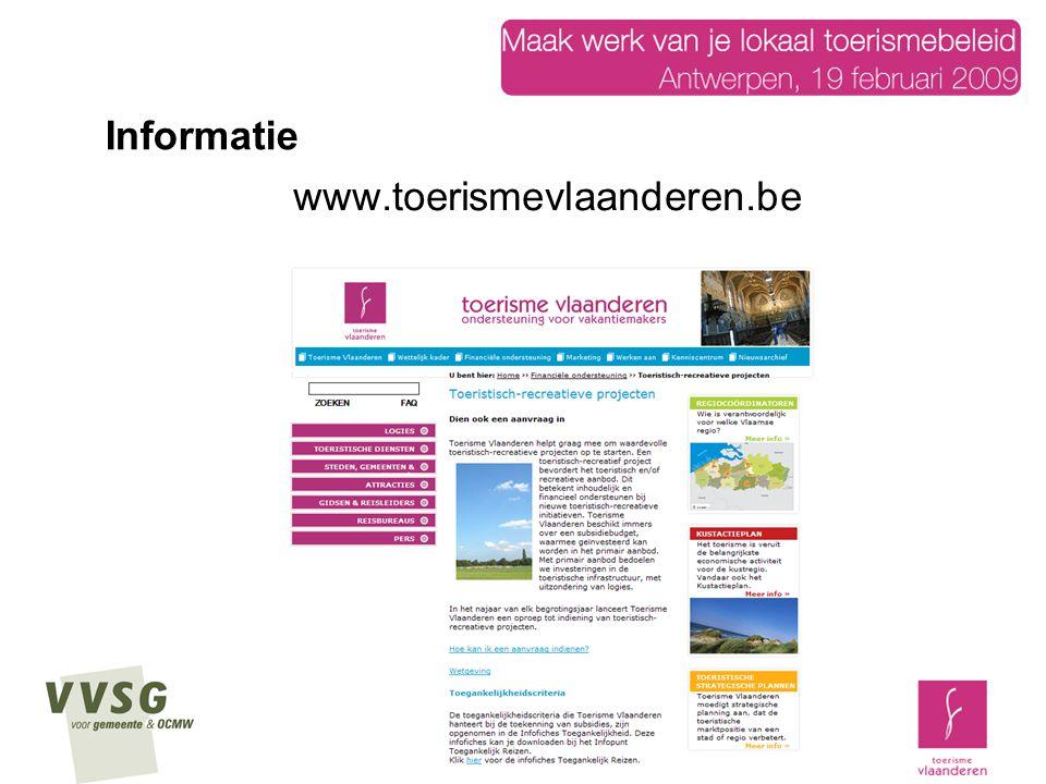www.toerismevlaanderen.be Informatie