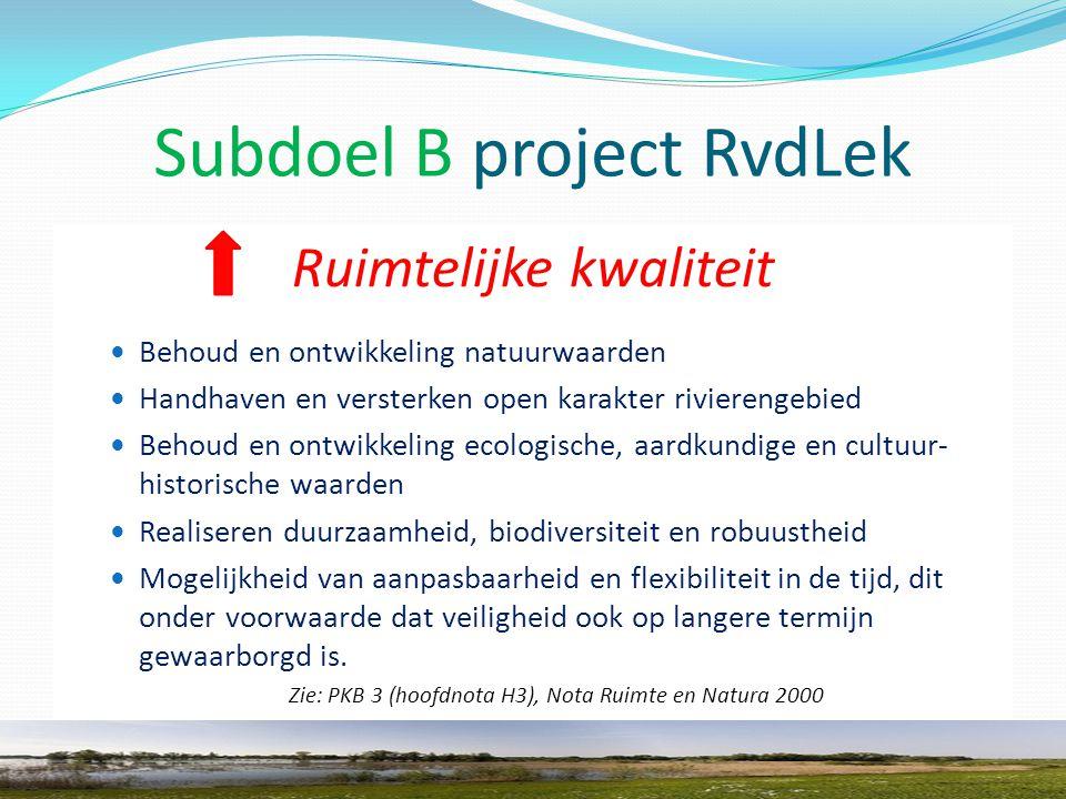 Subdoel C project RvdLek Bron: interactieve kaart website provincie, Natuurbeleid in de Provincie Utrecht