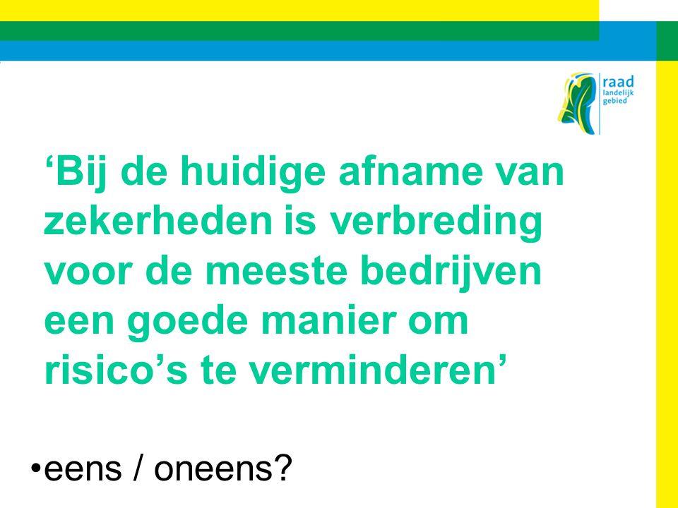Anders ondernemen in de groene ruimte - VAB - 9 december 2008 Publieke diensten (natuur) Anderzijds: oVeel boeren willen stoppen met SAN (lichte weidevogelpakket verdwijnt, papierwinkel) oMinder belangstelling voor natuurbeheer bij hogere prijzen en verruiming melkquota 5.