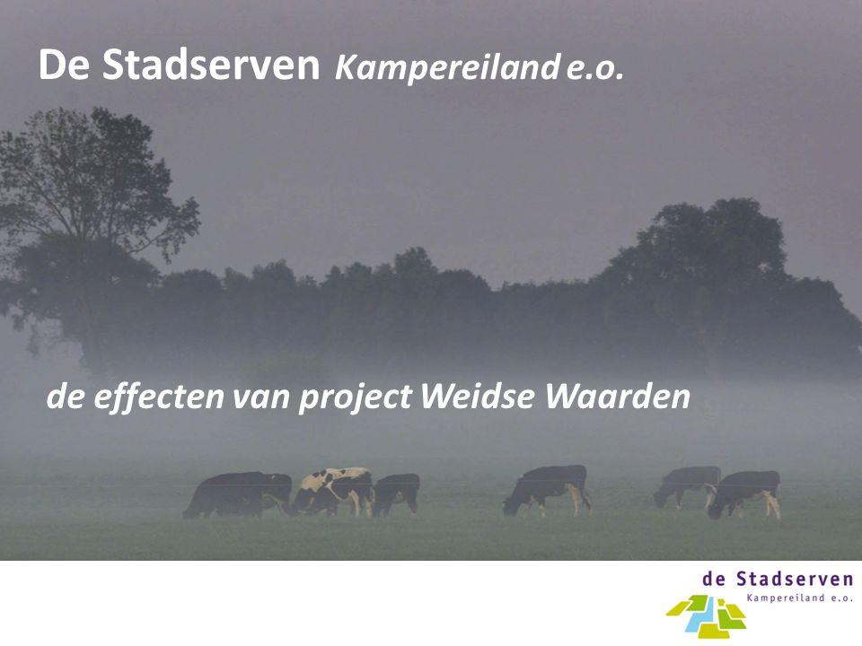 De Stadserven Kampereiland e.o. de effecten van project Weidse Waarden