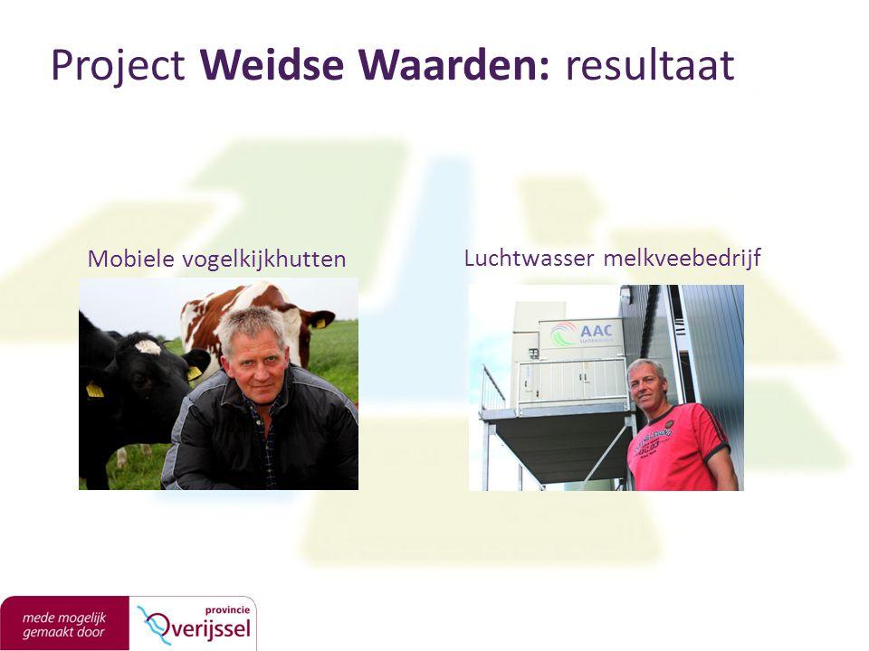 Mobiele vogelkijkhutten Project Weidse Waarden: resultaat Luchtwasser melkveebedrijf