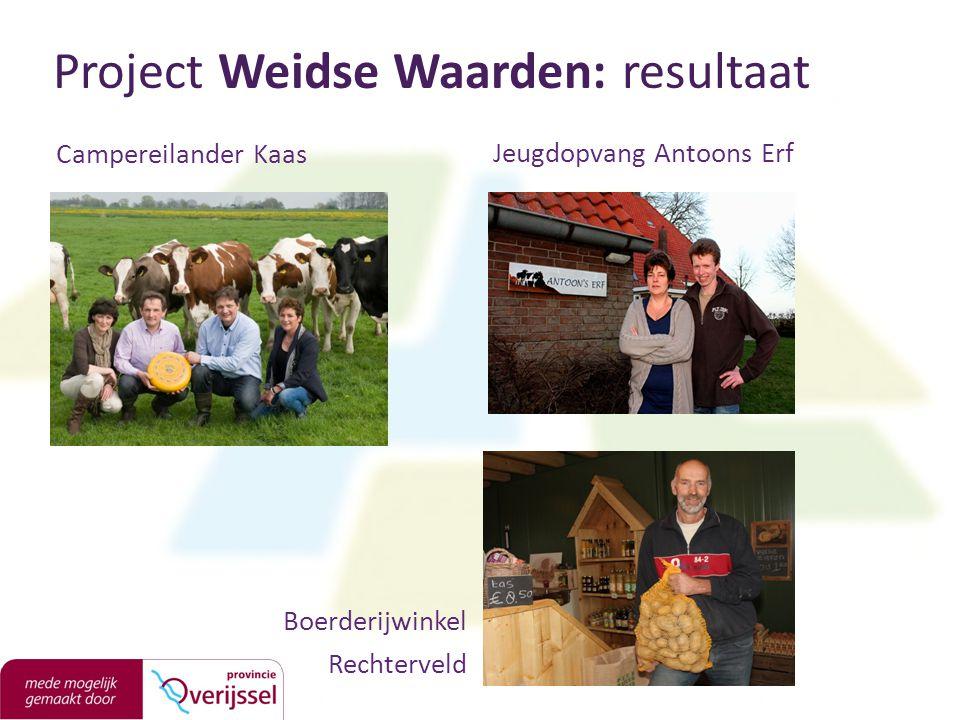 Campereilander Kaas Project Weidse Waarden: resultaat Jeugdopvang Antoons Erf Boerderijwinkel Rechterveld