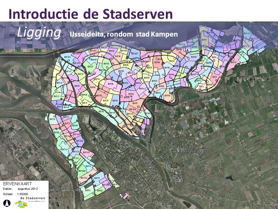 Ligging IJsseldelta, rondom stad Kampen Introductie de Stadserven