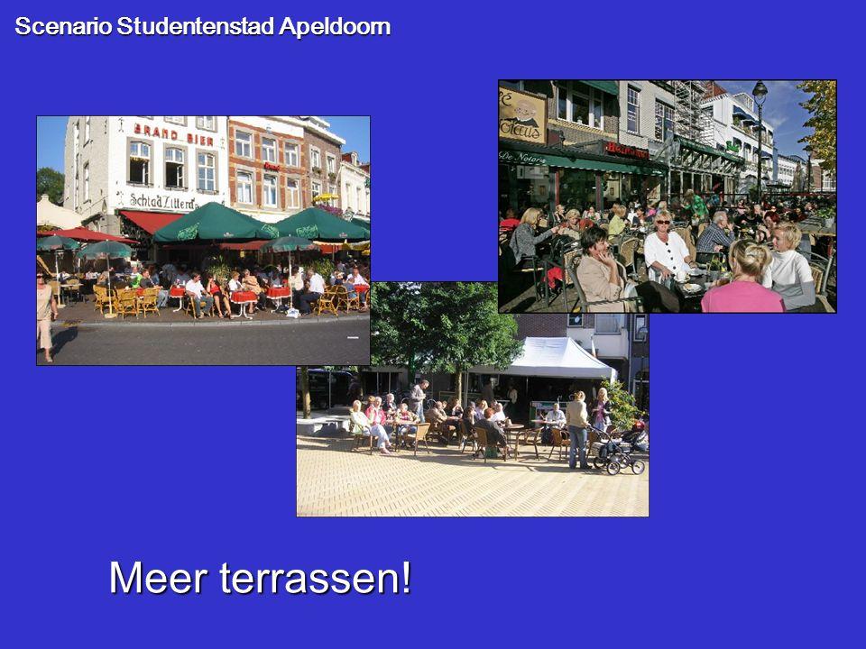 Scenario Studentenstad Apeldoorn Meer terrassen!