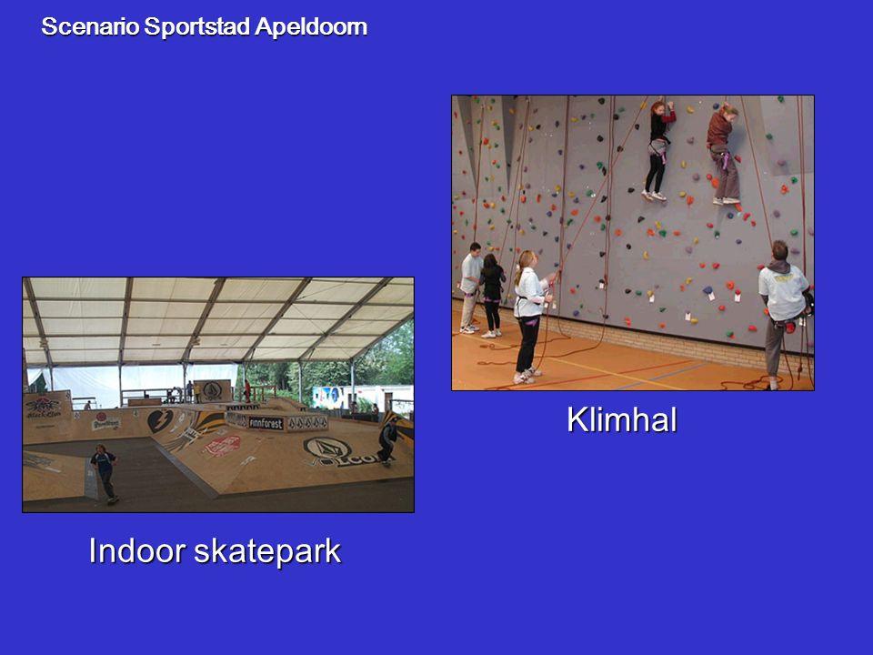 Scenario Sportstad Apeldoorn Klimhal Indoor skatepark