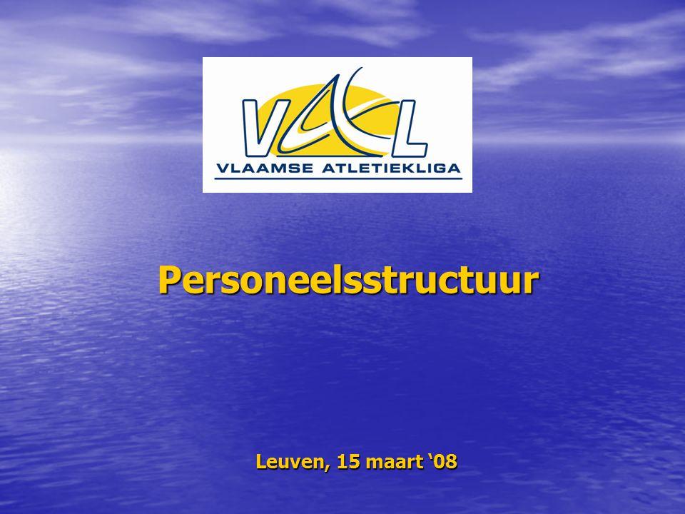 Personeelsstructuur Leuven, 15 maart '08