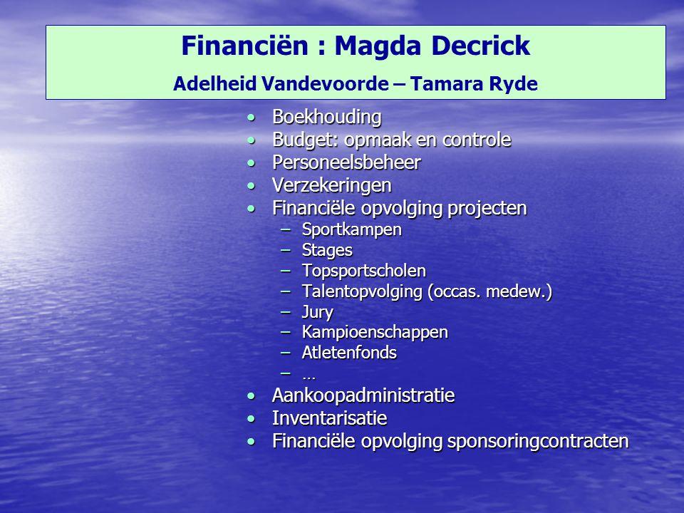 BoekhoudingBoekhouding Budget: opmaak en controleBudget: opmaak en controle PersoneelsbeheerPersoneelsbeheer VerzekeringenVerzekeringen Financiële opv