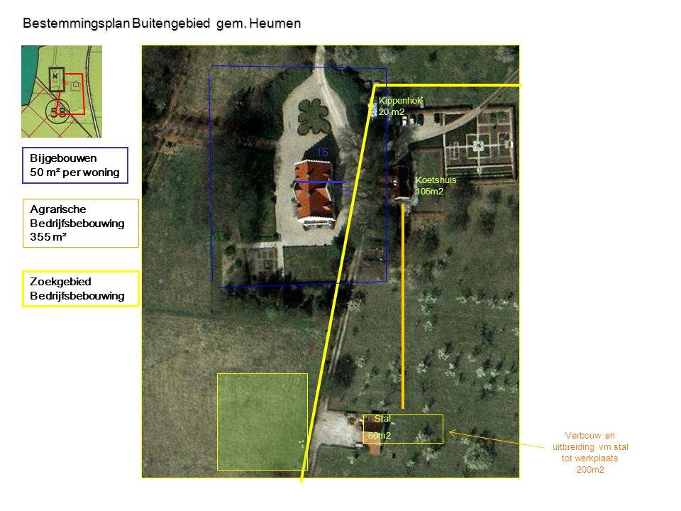 Agrarische Bedrijfsbebouwing 355 m² Bijgebouwen 50 m² per woning Bestemmingsplan Buitengebied gem.