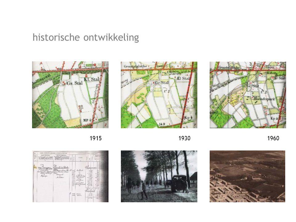 191519301960 historische ontwikkeling