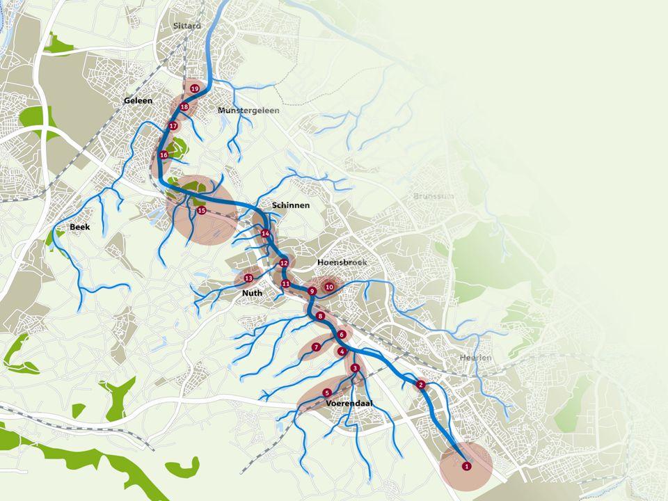 Doelstellingen Water, natuur en oevers verbeteren Routes, recreatieve kwaliteit opwaarderen Economische impulsen, branding van de regio