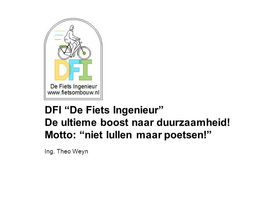 DFI De Fiets Ingenieur De ultieme boost naar duurzaamheid.